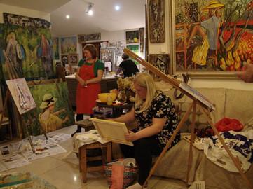 Gleznošanas nodarbība