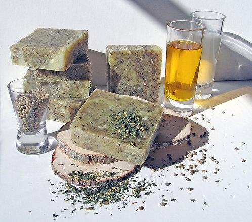 Hemp Vegan soap with patchouli / Kaņepju ziepes ar pačūliju