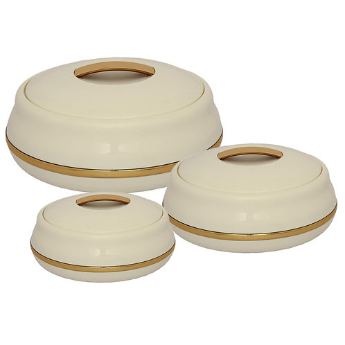 Jaypee Alisa Neo Super Set of 3 Casserole (1750+1250+850) Golden