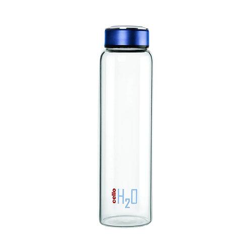 Cello H2O Borosilicate Glass Water Bottle, 1 Litre, Multicolor