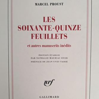 Le musée dans la genèse : les soixante-quinze feuillets de Proust