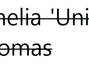 Amelia 'Unity' Thomas