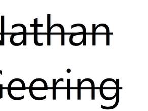 Nathan Geering