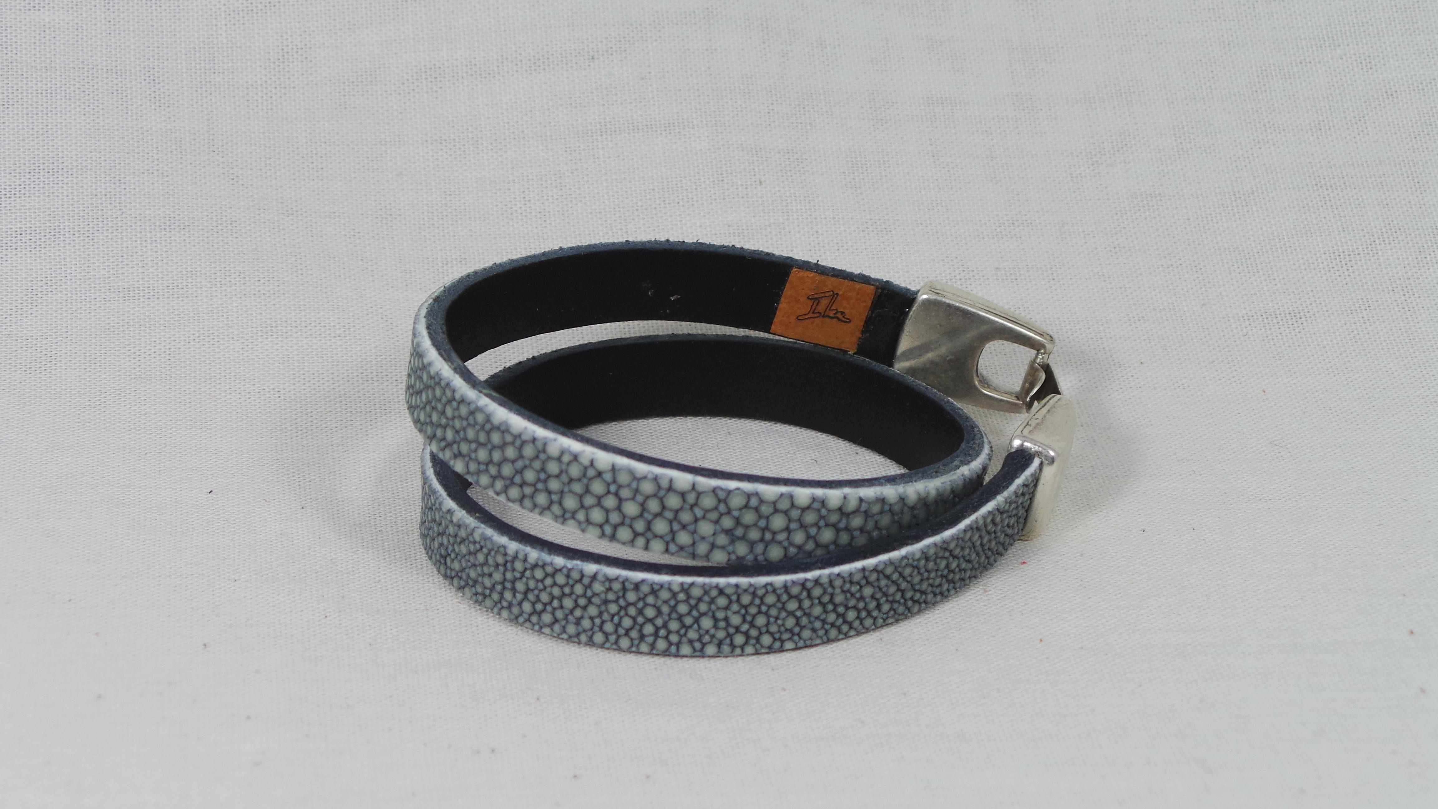 Roggen armband dubbel 1 cm