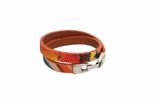 Dubbel armband rog gekleurd