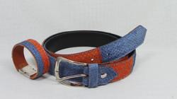 Zalmleren riem en armband