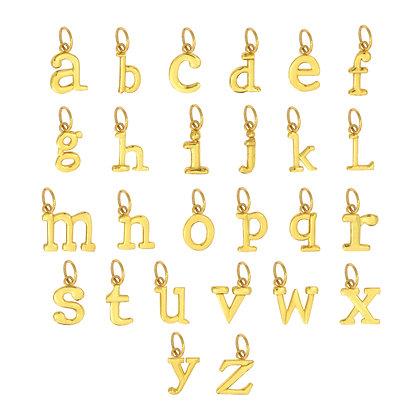 Me Encanta Individual gold alphabet letter