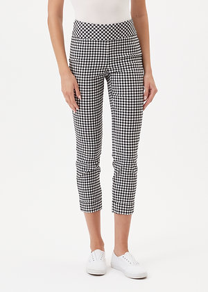Up Pants Black and White Gingham Trouser