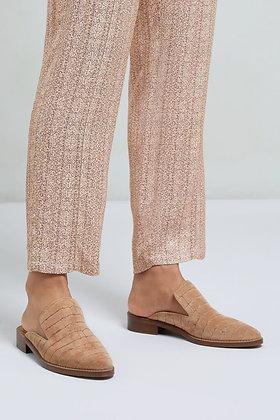 Yaya Croc Suede Slip On Loafer