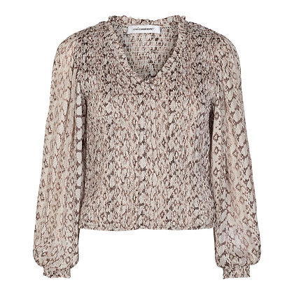 Co'couture Python Smock Blouse