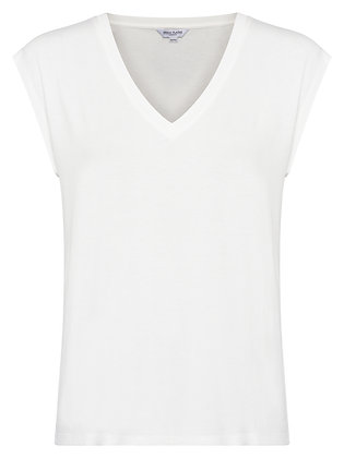 Great Plains White Core V-Neck Jersey Top