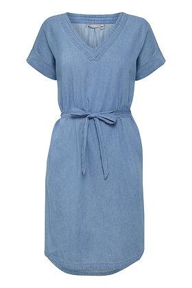 Fransa Blue cotton dress