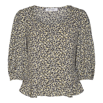 Co'couture Shadow Flower blouse