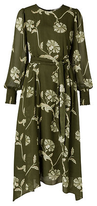 Yaya Printed Puff Sleeve Dress