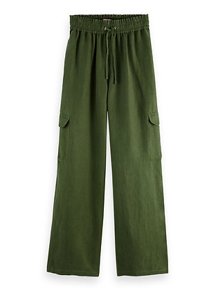 Scotch and Soda Military Green Cargo trousers