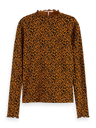 Scotch and Soda Printed Puff-Sleeve Top