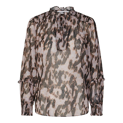 Co'couture Ceramic Pink Leopard Blouse