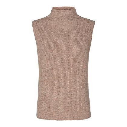 Co'couture Soul Lurex Collar Vest Nude Rose