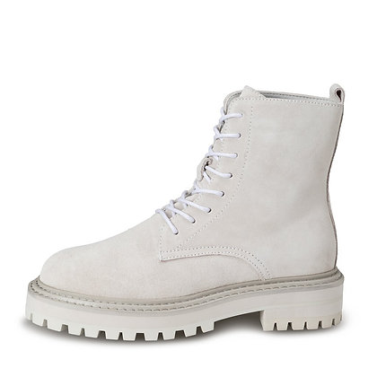 Yaya beige lace up boot