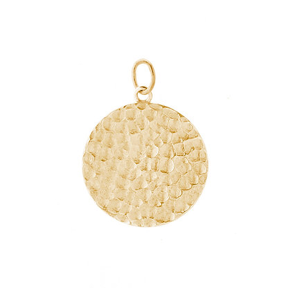 Me Encanta Anya gold textured disc pendant