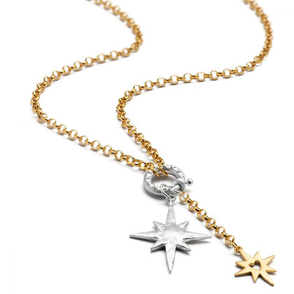 Chambers and Beau Stardust charm necklace