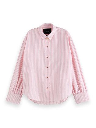 Scotch and Soda Boxy Fit Pinstripe Shirt