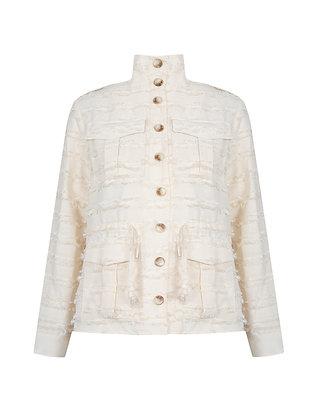 Nu Cream Ruffle Jacket