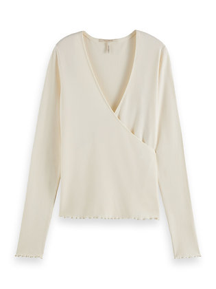 Scotch and Soda Ribbed Wrap Top