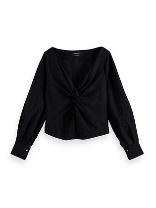 Scotch and Soda Black Knotted Top