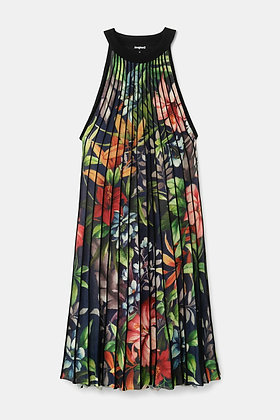 Desigual Pleated Floral Dress
