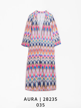 Vilagallo Aura Bunaken Ikat Print Kimono Coat