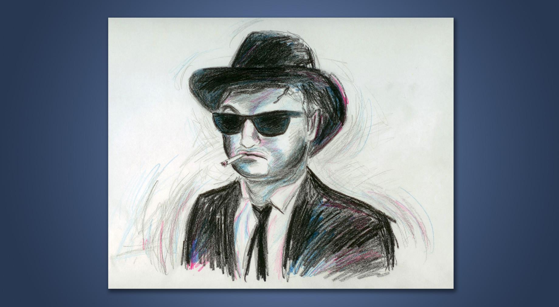 ג'ון בלושי - איור בעפרונות