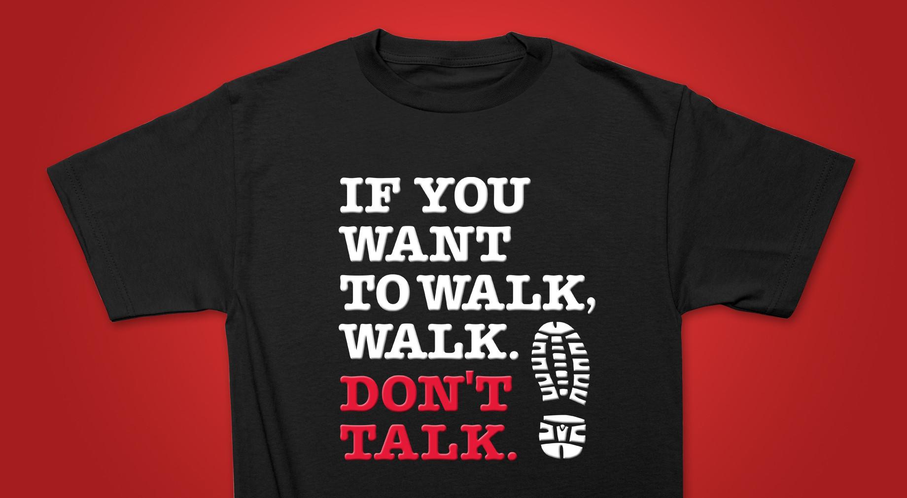 חולצה ללקוחות רשת חנויות Walk In