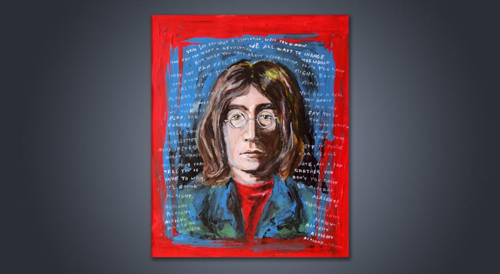 ג'ון לנון - איור באקריליק