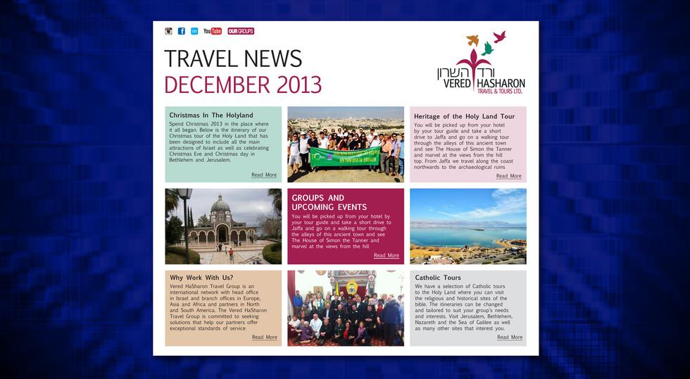 ניוזלטר בנושא תיירות וטיולים
