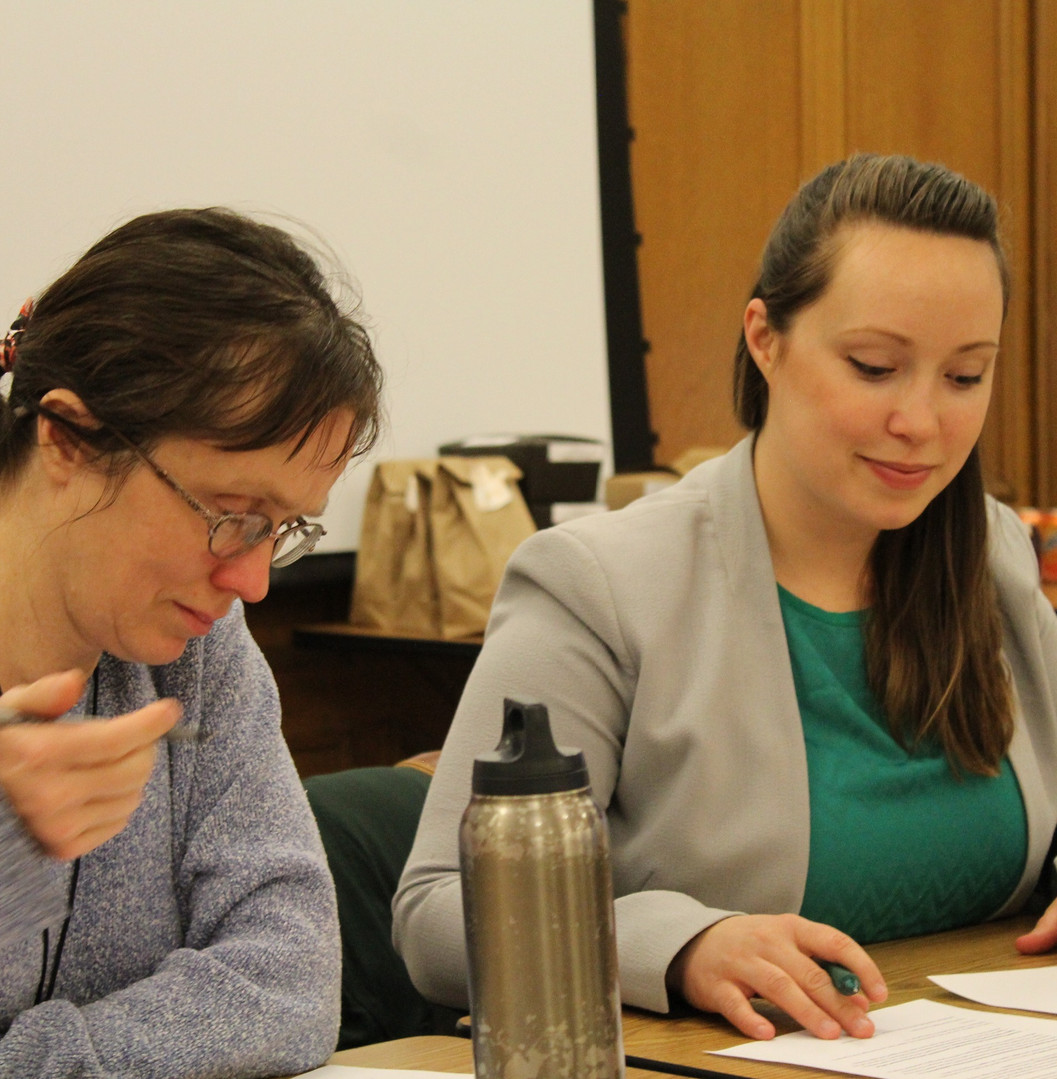 Ashley at a Duluth Human Rights Commission meeting