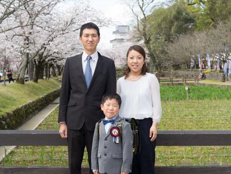 大村公園で入学記念