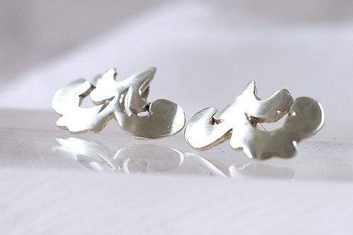 Silver Roccoco Style Earrings