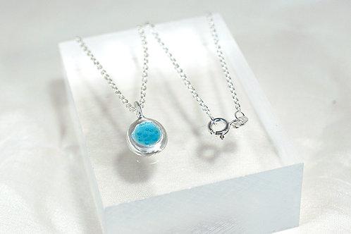 Seed Necklace in Pastel Blue Enamel