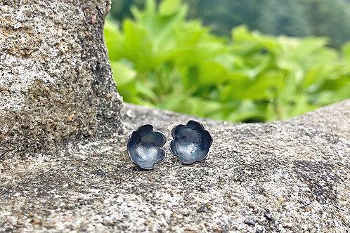 Silver Cupped Flower Earrings