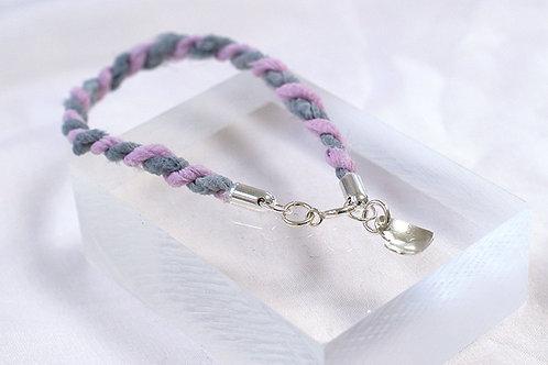 Rustic Silk Heart Bracelet