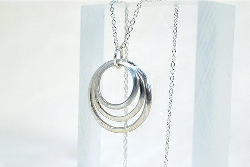 Silver Hoop Necklace - Smooth