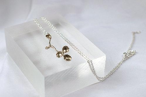 Contemporary Silver Blossom Necklace