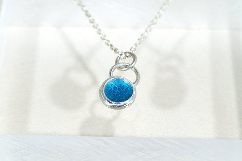 Seed Necklace in Blue Enamel