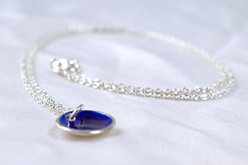 Silver and Royal Blue Enamel Pendent
