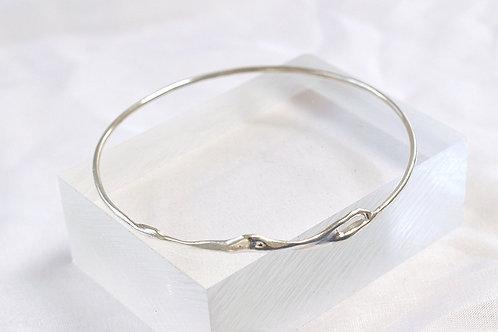 Contemporary Silver Twig Bangle