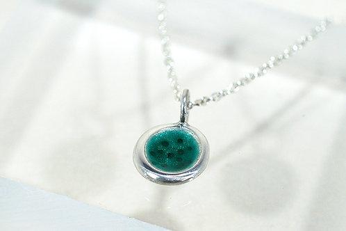 Seed Necklace in Green Enamel
