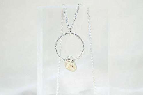 Silver Wishing Pebble
