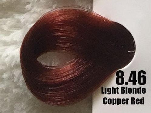Coloração em Creme EXTREMO, Cor Louro Claro Vermelho Acobreado 8.46, 100ml