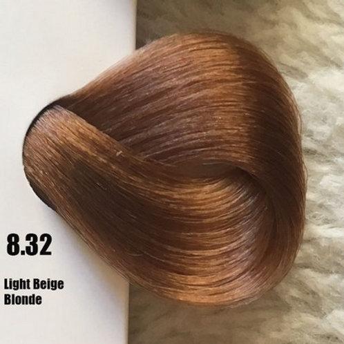 Coloração em Creme Extremo, Cor Louro Claro Bege 8.32, 100ml